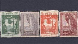 BRUXELLES, EXPOSITION 1910 - Erinnophilie