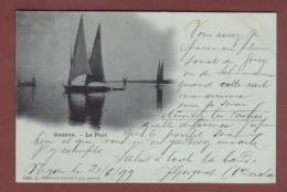 GENEVE - Le Port - Barques - Clair De Lune - 1899 - Charnaux Frères - GE Genève
