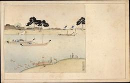 Artiste Cp Tokio Präf. Tokio Japan, Konaki Fluss, Boote - Altri