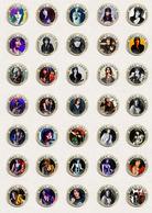 Joan Jett Music Fan ART BADGE BUTTON PIN SET 2 (1inch/25mm Diameter) 70 DIFF - Musique