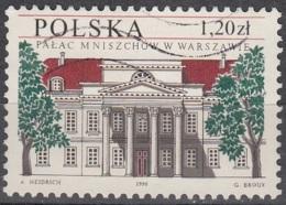 Polska 1998 Michel 3729 O Cote (2008) 1.00 Euro Varsovie Palais Miniszech Emission Avec La Belgique - 1944-.... République