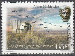 Polska 1998 Michel 3738 O Cote (2008) 0.50 Euro Poète Adam Mickiewicz Et La Tombe Cachet Rond - 1944-.... République