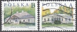 Polska 1998 Michel 3693 - 3694 O Cote (2008) 0.70 Euro Maisons à Gluchach & Czarnolesie Cachet Rond - 1944-.... République