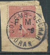 Timbre Type Semeuse Yvt 129 Obliteration Colomb Gechar Oran - 1903-60 Semeuse Lignée
