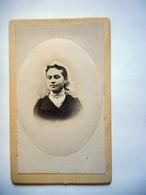 PHOTO CDV JEUNE FEMME TOURANGELLE ET SA COIFFE   Cabinet ROUGIER  A LUYNES - Photos