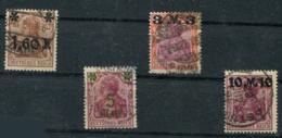 Deutsches Reich; Germania; 1,60 - 10 M; Mi. 154 I-157 I Gestempelt / Used / Oblitéré - Deutschland