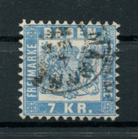 Baden: 7 Kr. MiNr. 25 1868 Gestempelt / Used / Oblitéré - Bade