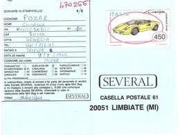 1985 £450 LAMBORGHINI COUNTACH LP500 SU CART. PUBBLICITARIA SEVERAL - Automobili