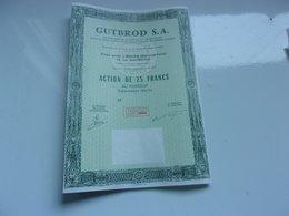 GUTBROD (action 25 Francs) Macon , Saone Et Loire - Actions & Titres