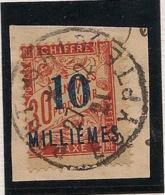 Port Said - 1921 - Taxe TT N°Yv. 7 - 10m Sur 30c Rouge - Fragment - Oblitéré / Used - Gebraucht
