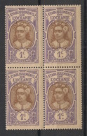Océanie - 1913 - N°Yv. 21 - Tahitienne 1c - Bloc De 4 - Neuf Luxe ** / MNH / Postfrisch - Ongebruikt