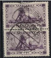 SARRE             N°     YVERT    116 X 2   OBLITERE       ( Ob  5/27 ) - 1920-35 Saargebiet – Abstimmungsgebiet
