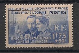 Océanie - 1938-41 - N°Yv. 127 - Curie - Neuf Luxe ** / MNH / Postfrisch - Oceanië (1892-1958)