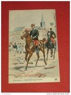 MILITARIA - Dragons - Adjudant Vaguemestre    - Illustrateur Maurice Toussaint - Uniformes
