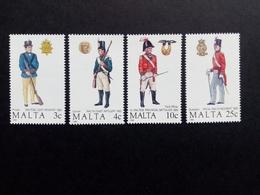 MALTA MI-NR. 799-802 ** MALTESISCHE UNIFORMEN(II) 1988 - Malta
