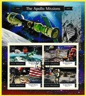 Bloc Feuillet Oblitéré De 4 Timbres-poste - The Apollo Missions 1967-1972 - N° 5112-5115 (Yvert) - Maldives 2015 - Maldives (1965-...)