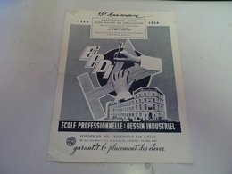 EPDI  ECOLE PROFESSIONNELLE DE DESSIN INDUSTRIEL  1958 - Diplômes & Bulletins Scolaires