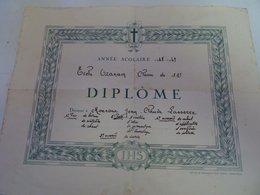 DIPLOME  ECOLE OZANAM 1948-49 J-CLAUDE LASSERRE - Diplômes & Bulletins Scolaires