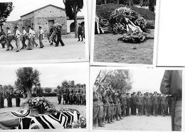 4 Photos - Enterrement D'un Aviateur Allemand (Feldflugpark) - 1939-45