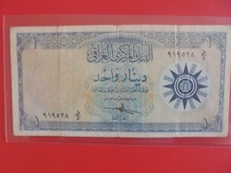 IRAQ 1 DINAR 1959 CIRCULER (B.6) - Iraq