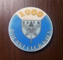 CASINO DOUBKI CLUB KIEV 1000 TOKEN UKRAINE Kyiv FISH FICHES CHIPS JETON Ø39,2mm - Casino