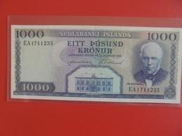 ISLANDE 1000 KRONUR 1961 PEU CIRCULER (B.6) - Iceland
