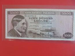 ISLANDE 5000 KRONUR 1961 CIRCULER (B.6) - IJsland