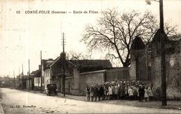 CPA RARE CONDE FOLIE ECOLE DE FILLES - Frankrijk