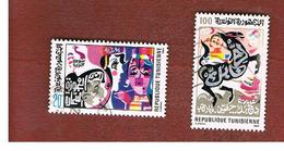 TUNISIA - SG 1056.1058  -    1984 TUNISIAN STORIES & SONGS    - USED ° - Tunisia (1956-...)