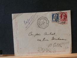 A10/149  DEVANT DE LETTRE   EXPRES 1911 - 1905 Breiter Bart