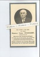 VICTOR STANDAERT WED IDA VANDERHOUDELINGEN ° ASPELARE ( NINOVE ) 1862 + VOLLEZELE ( GALMAARDEN ) 1931 - Devotieprenten