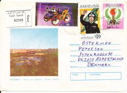 Libya Registered Air Mail Cover Sent To Denmark - Libya