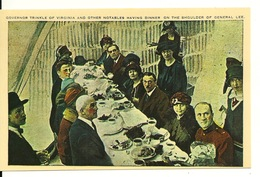 STONE MOUNTAIN - GEORGIA / GOVERNOR TRINKLE OF VIRGINIA AND OTHER NOTABLES HAVING DINNER ON THE SHOULDER OF GENERAL LEE - Etats-Unis