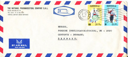 Libya Air Mail Cover Sent To Denmark 3-4-1976 Topic Stamps - Libye
