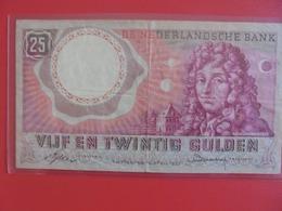 PAYS-BAS 25 GULDEN 1955 CIRCULER (B.6) - [2] 1815-… : Royaume Des Pays-Bas