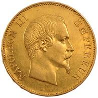 FAUX : 100  FRANCS OR  *Napoléon III*  1858 : Téte  NUE  MAGNIFIQUE REFRAPPE Dorée OR  -  SUPERBE COPIE  - - France