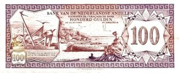 Netherlands Antilles P.19b  100 Gulden 1981 Unc - Antille Olandesi (...-1986)