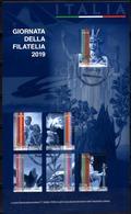 Italia 2019 Giornata Della Filatelia Foglietto 6 Valori Annullo Filatelico - 6. 1946-.. Republik