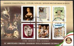 Italia 2019 Carabinieri Tutela Patrimonio Culturale Foglietto 6 Valori Annullo 1° Giorno - 6. 1946-.. Republik