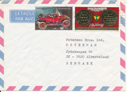 Libya Air Mail Cover Sent To Denmark - Libya