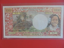 TAHITI-PAPEETE 1000 FRANCS 1985 BELLE QUALITE CIRCULER (B.6) - Papeete (Polynésie Française 1914-1985)