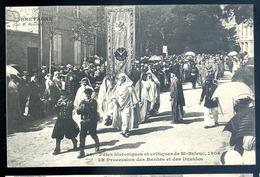 Cpa Du 22 St Brieuc Fêtes Historiques Celtiques 1906 Procession Des Bardes Et Des Druides  LZ26 - Saint-Brieuc