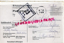 87- PIERREBUFFIERE- PIERRE BUFFIERE- LETTRE CYPRIEN LATY- MARCELIN-KRIEGSFANGENENPOST- LAGER IV D 23 GEPRUFT 1944-WW2 - Documenti Storici