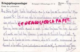 87- PIERREBUFFIERE- PIERRE BUFFIERE- LETTRE GABRIELLE DUFOUR- LATY -KRIEGSFANGENENPOST- LAGER IV D 23 GEPRUFT 1944- - Documenti Storici