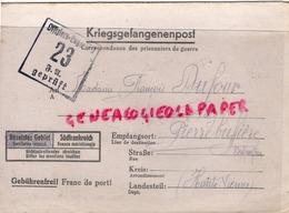87- PIERREBUFFIERE- PIERRE BUFFIERE- LETTRE FRANCOIS DUFOUR- LATY -KRIEGSFANGENENPOST- LAGER IV D 23 GEPRUFT 1944- - Documenti Storici
