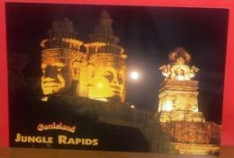 GARDALAND Parco Divertimenti  Italia JUNGLE RAPIDS Di Notte CARTOLINA Non Viaggiata - Disney