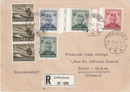 Lettre Differdange 29.01.1947  Caritas 1946 - Luxembourg