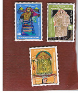 TUNISIA - SG 1099.1101  -    1986  WEDDING DRESSES (COMPLET SET OF 3)   - USED ° - Tunisia (1956-...)