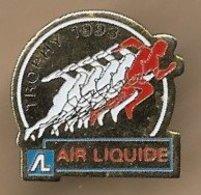 Pin's Trophy 1993 Air Liquide (au Verso 23 Au 27 Juin) France Industrie 6 Rue Cognacq-Jay Paris 7e Athlétisme - Athletics