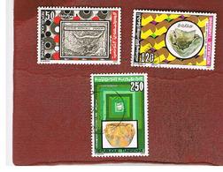 TUNISIA - SG 1106.1109  -    1986 PREHISTORIC  ARTEFACTS    - USED ° - Tunisia (1956-...)